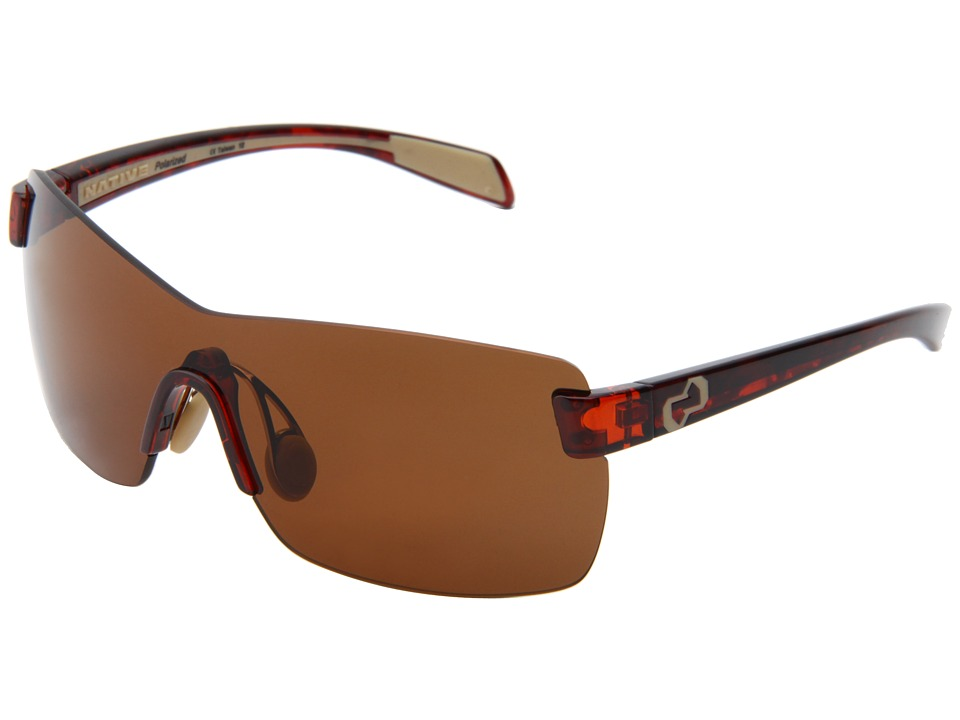 Native Eyewear - Camas (Maple Tort/Brown Lens) Athletic Performance Sport Sunglasses