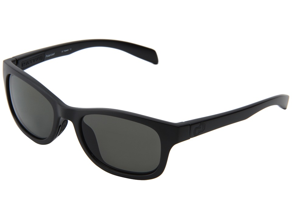 Native Eyewear - Highline (Asphalt/Black/Gray lens) Athletic Performance Sport Sunglasses