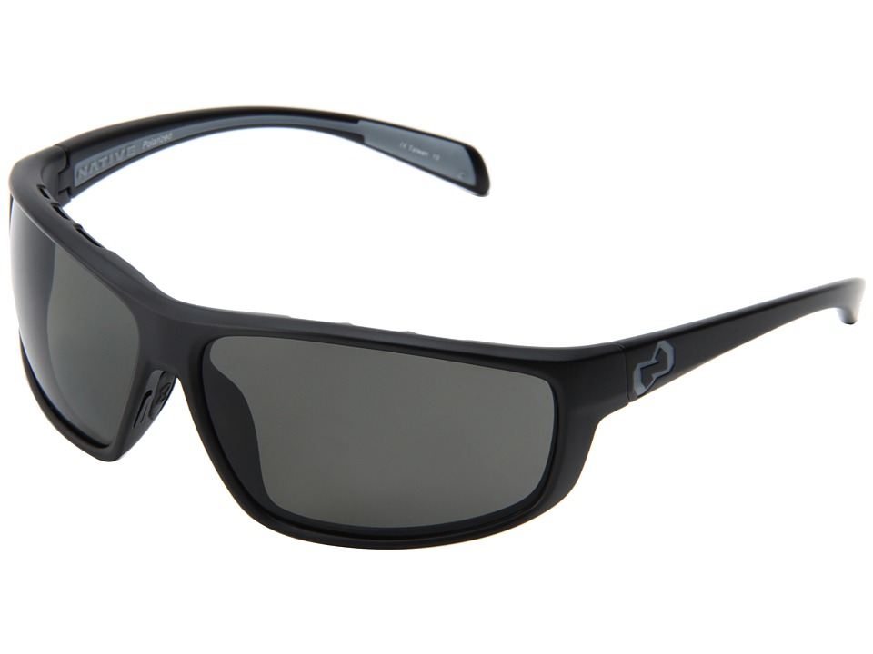Native Eyewear - Bigfork (Asphalt/Gray Lens) Plastic Frame Sport Sunglasses