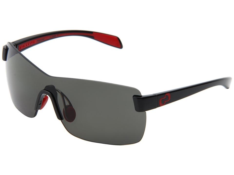 Native Eyewear - Camas (Iron/Gray Lens) Athletic Performance Sport Sunglasses