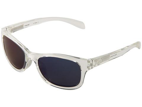 Native Eyewear - Highline (Crystal/White/Blue Reflex Lens) Athletic Performance Sport Sunglasses