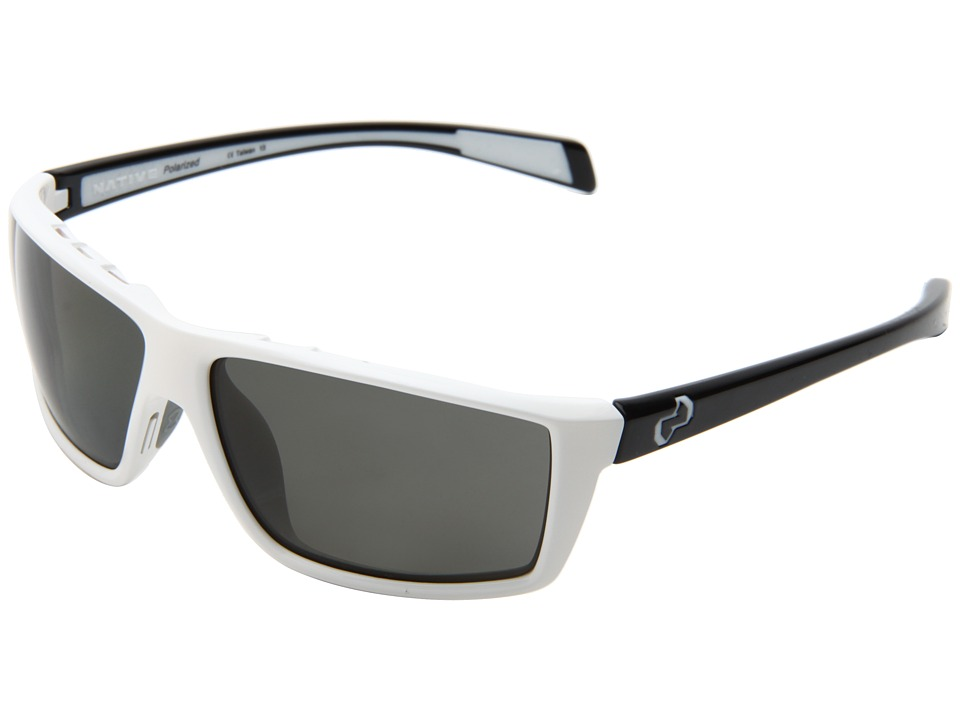 Native Eyewear - Sidecar (White Front/Iron Temples/Gray Lens) Athletic Performance Sport Sunglasses