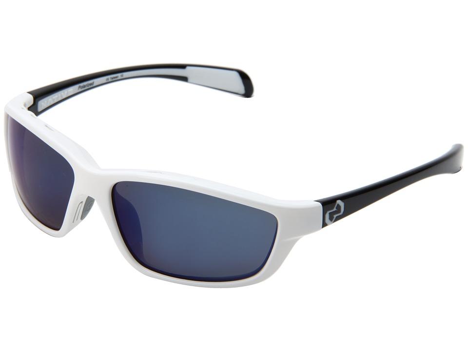 Native Eyewear - Kodiak (White Front/Iron Temple/Blue Reflex Lens) Athletic Performance Sport Sunglasses