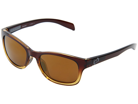 Native Eyewear - Highline (Stout Fade/Iron Temple/ Grey/Bronze Reflex Lens) Athletic Performance Sport Sunglasses