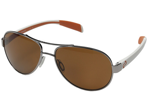 Native Eyewear - Haskill (Chrome/White/Orange/Brown Lens) Athletic Performance Sport Sunglasses