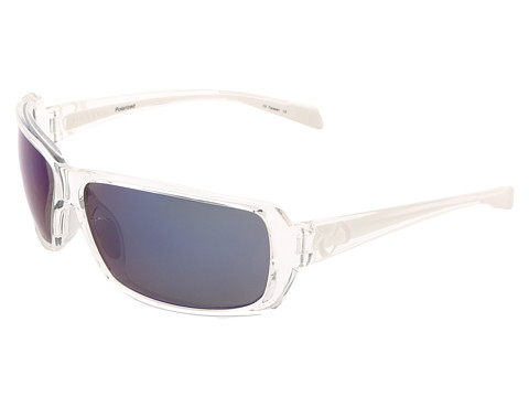 Native Eyewear - Trango (Crystal/White/Blue Reflex Lens) Sport Sunglasses