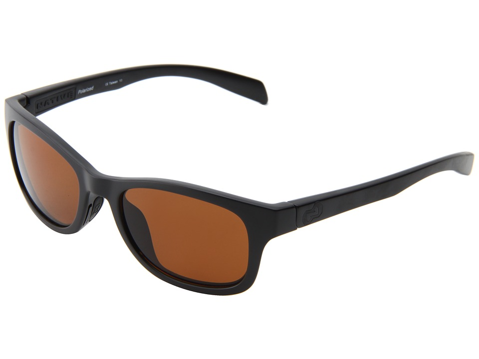 Native Eyewear - Highline (Asphalt/Black/Brown lens) Athletic Performance Sport Sunglasses