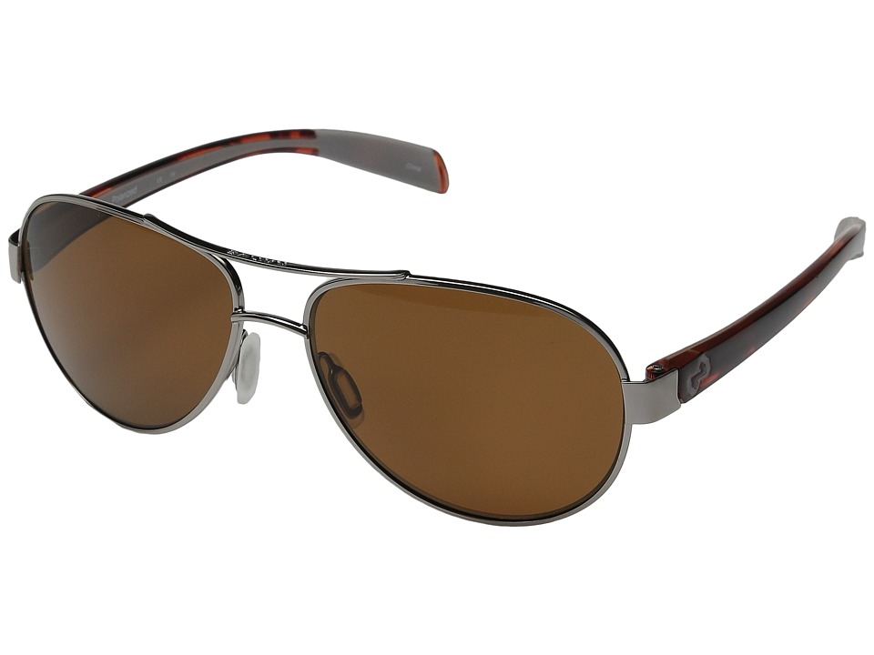 Native Eyewear - Haskill (Chrome/Maple Tort/Light Grey/Brown Lens) Athletic Performance Sport Sunglasses
