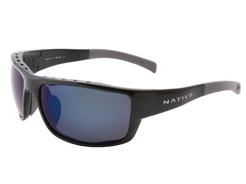 Native Eyewear - Cable (Iron/Blue Reflex (Gray) Lens) Sport Sunglasses