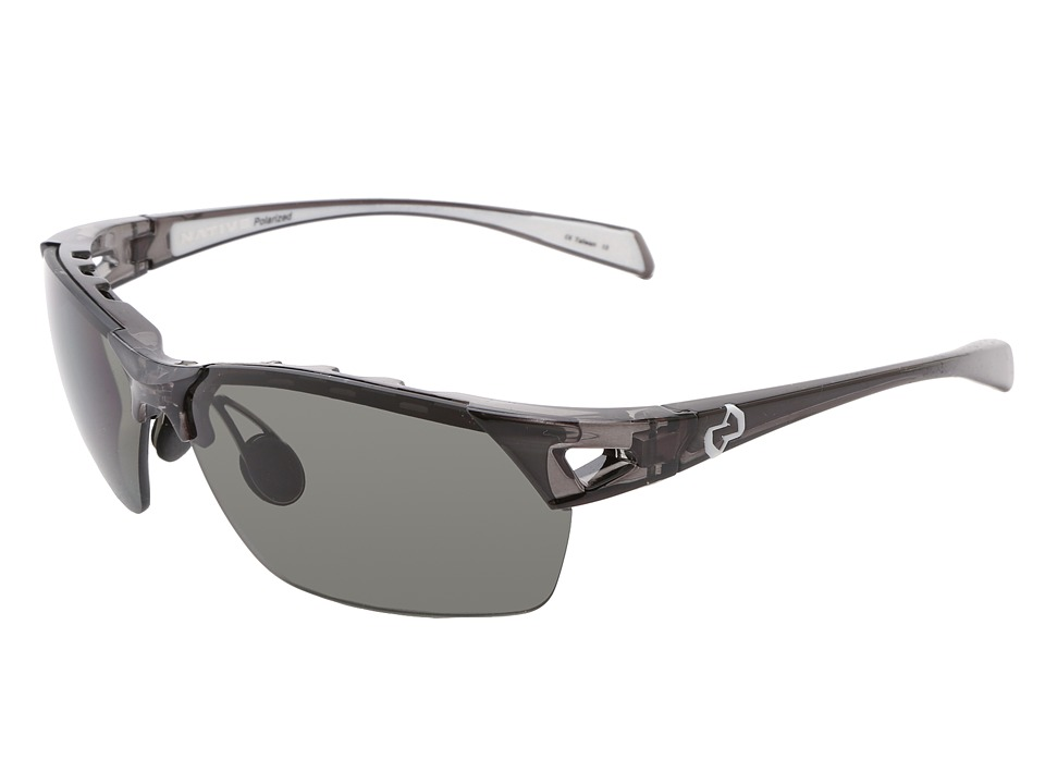 Native Eyewear - Eastrim (Smoke/White/Gray Lens) Plastic Frame Sport Sunglasses