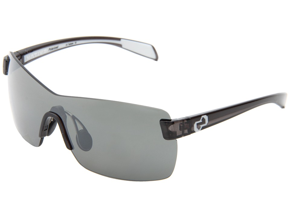 Native Eyewear - Camas (Smoke/White/Silver Reflex Lens) Athletic Performance Sport Sunglasses