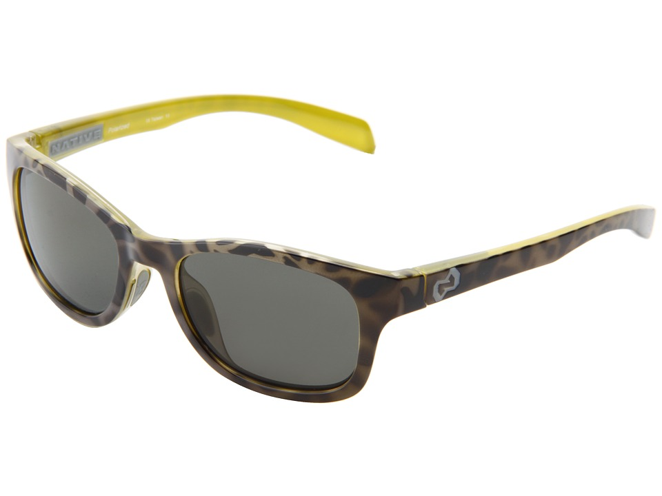 Native Eyewear - Highline (Black Lime Burst/Grey/Gray Reflex Lens) Athletic Performance Sport Sunglasses