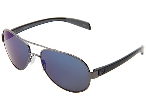 Native Eyewear - Haskill (Gunmetal/Iron/Grey/Blue Reflex Lens) Athletic Performance Sport Sunglasses