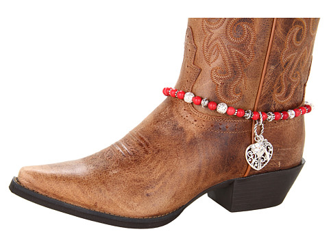 M&F Western - Boot Bracelet (Red Bead/Heart Charm) Bracelet