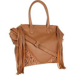 Steve Madden Whip It Satchel (Taupe) Satchel Handbags