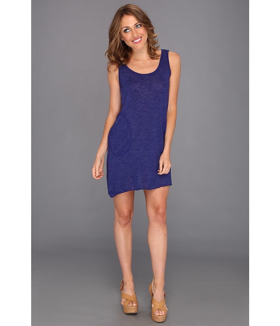 Allen Allen - 2-Pocket Angled Tunic Tank (New Blue) Women's Dress