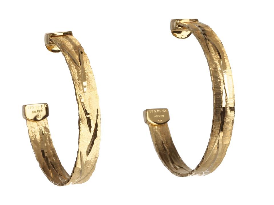 Roberto Coin - Diamond Cut Hoop Earrings (Yellow) Earring
