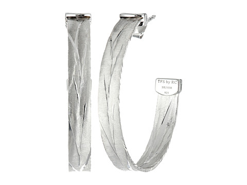 Roberto Coin - Diamond Cut Hoop Earrings (Silver) Earring