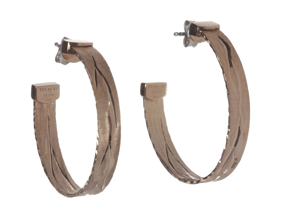 Roberto Coin - Diamond Cut Hoop Earrings (Rose) Earring