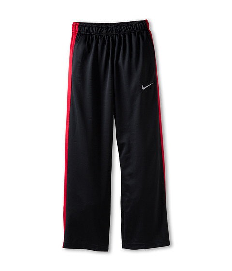 Nike Kids - Essentials Training Pant (Little Kids/Big Kids) (Black/Gym Red/Matte Silver) Boy