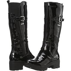 Rockport Lorraine II Lite Rainboot (Black Patent) Footwear