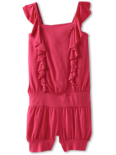 SALE! $16.99 - Save $33 on United Colors of Benetton Kids Girls` Ruffle Romper (Little Kids Big Kids) (Bright Pink) Apparel - 65.95% OFF $49.90