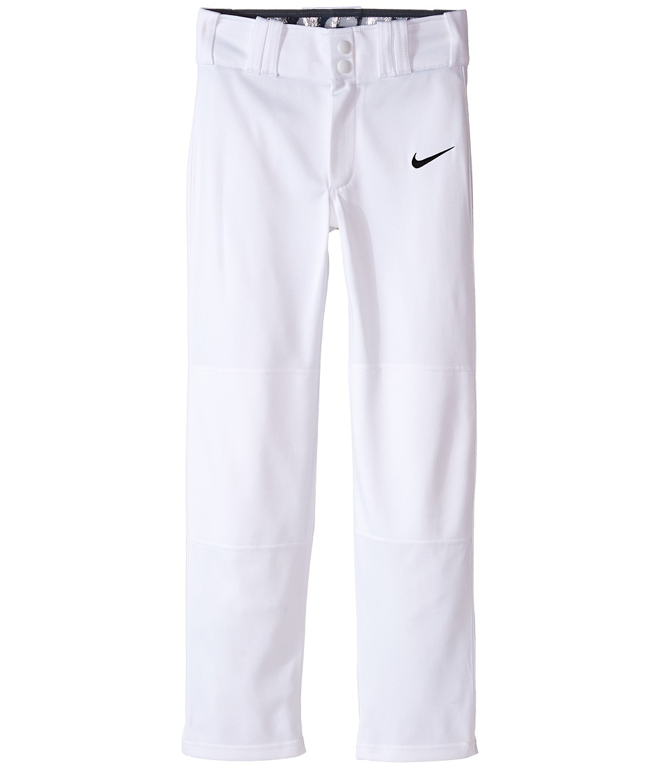 Nike Kids - STK Baseball Longball Pant (Little Kids/Big Kids) (White/Black) Boy's Workout
