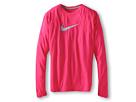 Nike Kids Legend L/S Dri-Fit Top (Big Kids) (Pink Force/Light Armory Blue)