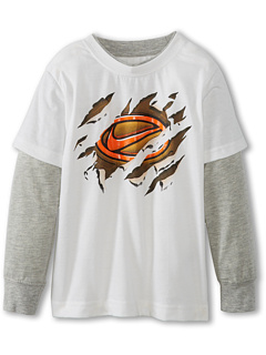SALE! $14.99 - Save $7 on Nike Kids Swoosh Badge 2 Fer Tee (Toddler) (White) Apparel - 31.86% OFF $22.00