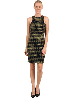 SALE! $89.99 - Save $205 on tibi Patchwork Square Knit Cut In Dress (Black Olive) Apparel - 69.49% OFF $295.00
