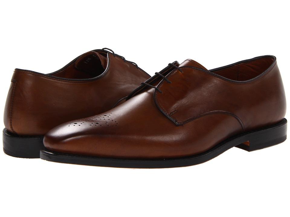 Allen-Edmonds - Flatiron (Bourbon Calf) Men's Lace Up Wing Tip Shoes