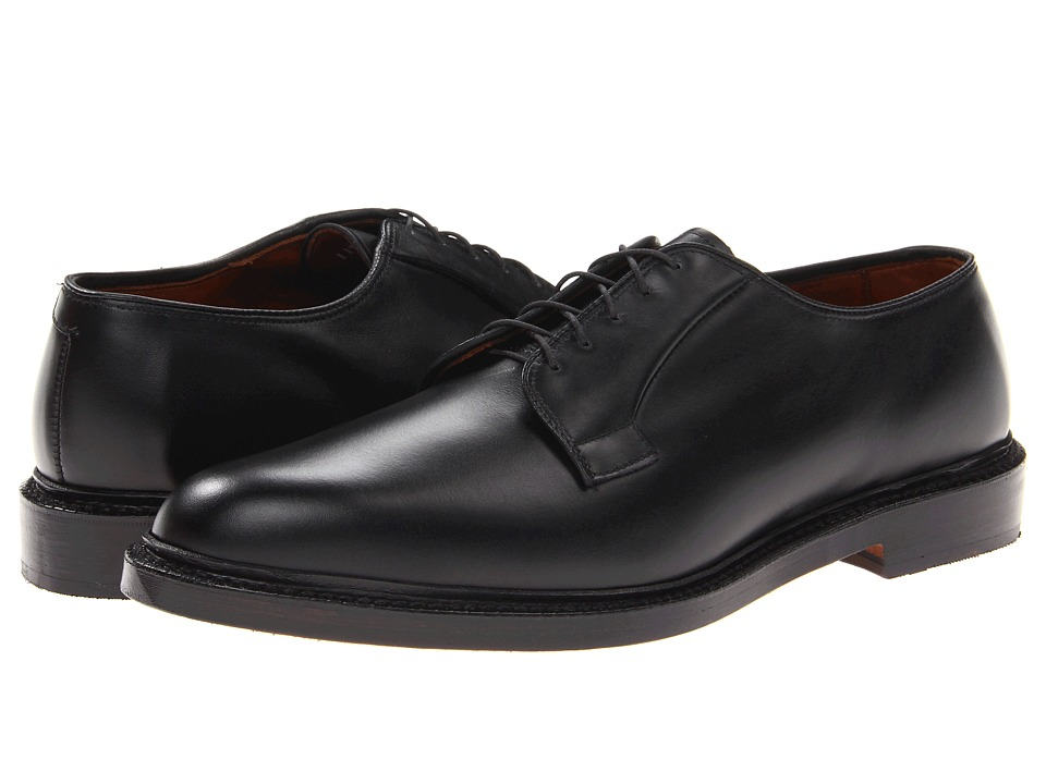 Allen-Edmonds - Leeds (Black Custom Calf) Men's Plain Toe Shoes