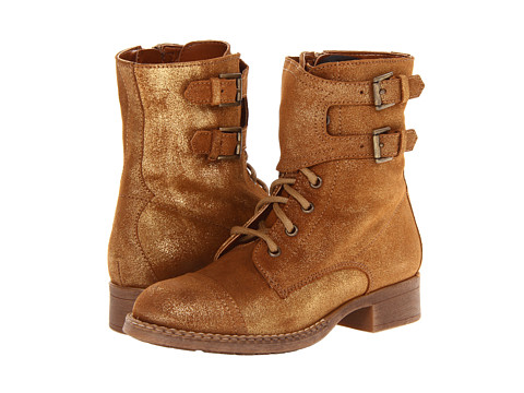 Seychelles - Against The Clock (Gold Metallic Suede) Women's Lace-up Boots