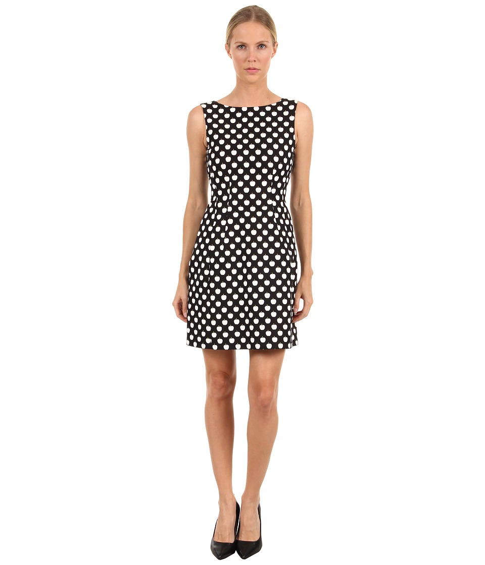 Kate Spade New York - Domino Dress (Black/Cream/Nyc Citron New York Apple) Women