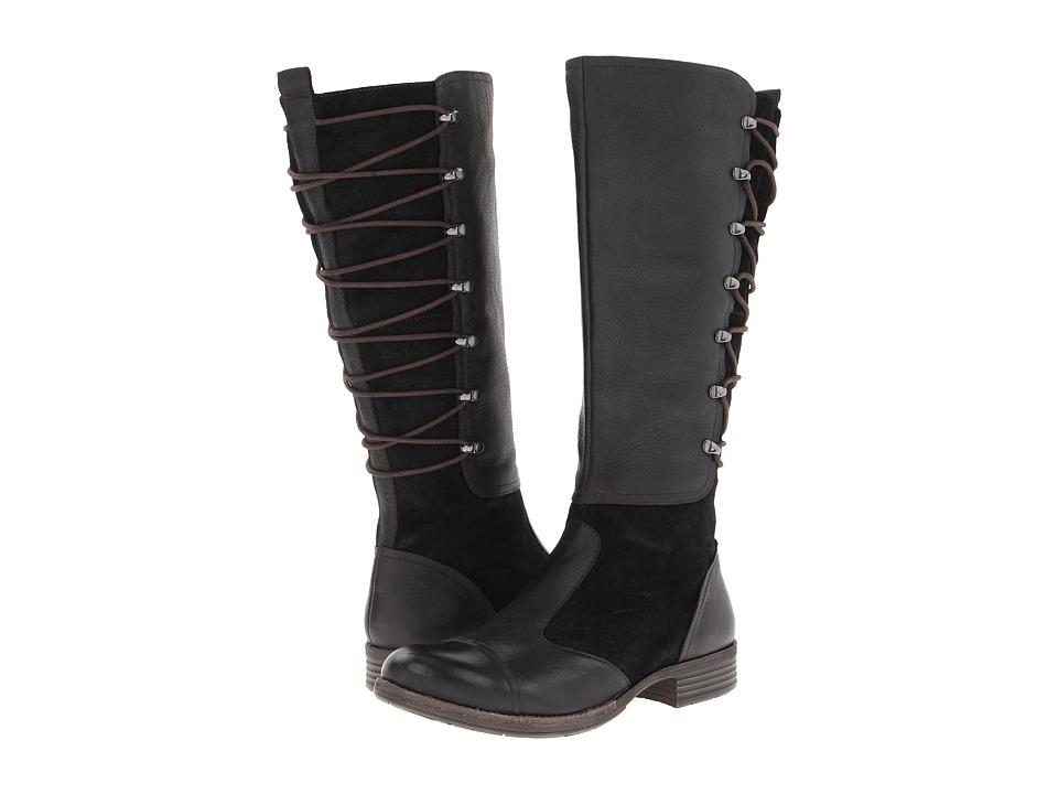 Naya - Apollonia Wide Shaft (Black Leather) Women