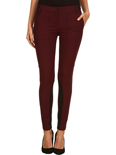 SALE! $156.99 - Save $128 on Tibi Anson Stretch Skinny Pant w Ribbed Detail (Wine) Apparel - 44.92% OFF $285.00