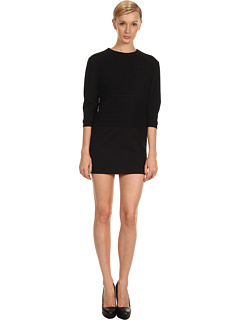 SALE! $201.99 - Save $163 on Tibi Patchwork Cable Sculpted Dress (Black) Apparel - 44.66% OFF $365.00