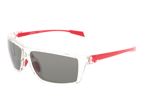 Native Eyewear - Sidecar (Crystal/Red/Gray Lens) Athletic Performance Sport Sunglasses