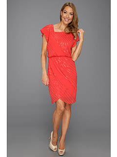 SALE! $41.99 - Save $126 on Vince Camuto Sequined Asymmetrical Neck Dress (Pink) Apparel - 75.01% OFF $168.00