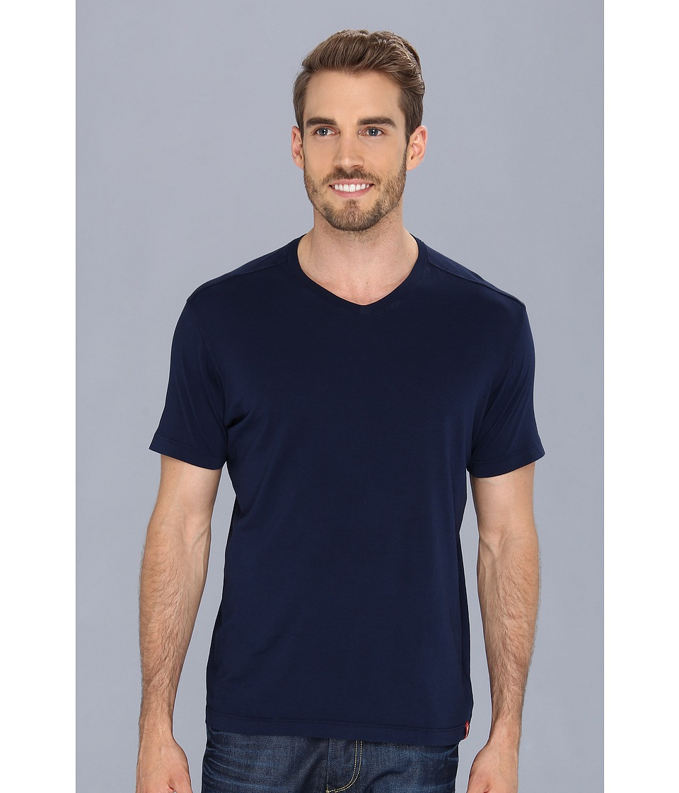 Agave Denim Agave Hi-V Supima Tee (Black Iris) Men