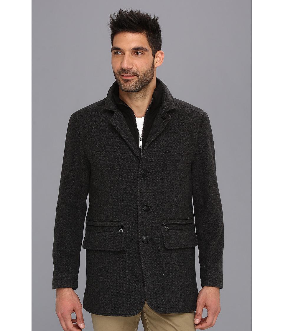 Marc New York by Andrew Marc - Hanson Coat (Black Charcoal) Men's Coat