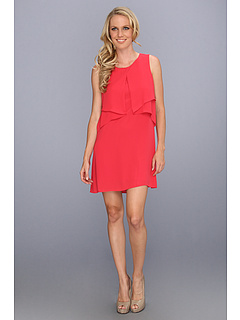 SALE! $149.99 - Save $78 on BCBGMAXAZRIA Amelie Sleeveless Draped Dress (Poppy) Apparel - 34.21% OFF $228.00