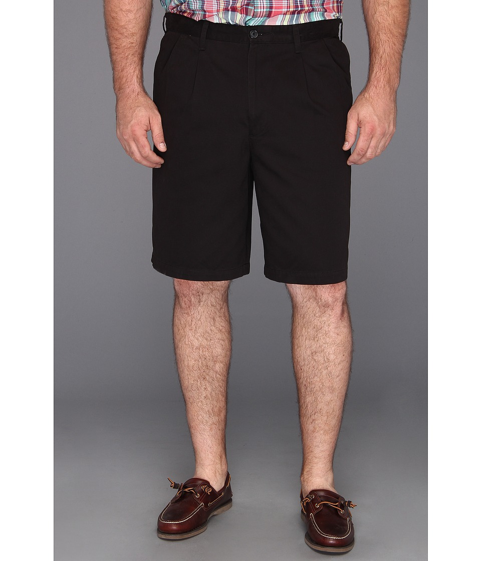 Dockers Big & Tall - Big Tall D3 Classic Fit Double Pleat Short (Black - Twill) Men's Shorts