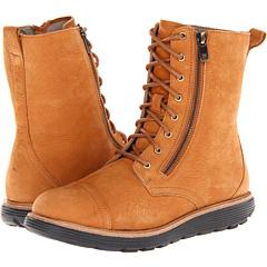 Rockport TWZ Welt Mid Zip Lace Boot (Mustard Oil) Footwear