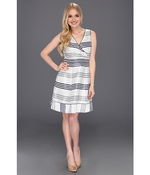 Jessica Simpson - Striped Full Skirt Sleeveless Dress (Navy Blue/White) Women