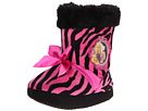Favorite Characters - Barbie 1BBF202 Furry Boot (Toddler/Little Kid) (Pink/Black Zebra Print) - Footwear