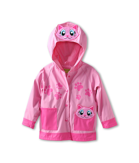 Western Chief Kids - Pink Kitty Raincoat (Toddler/Little Kids) (Pink) Girl's Coat