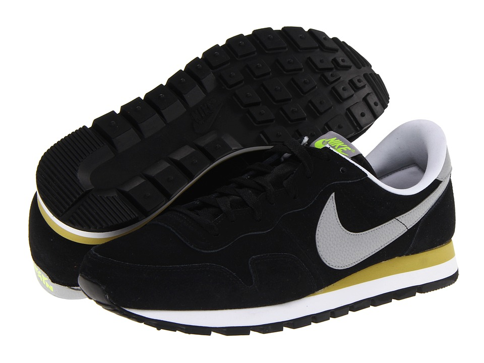 Nike - Air Pegasus 83 Leather (Black/Parachute Gold/Volt/Silver) Men's Classic Shoes