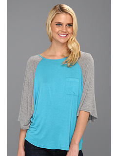 SALE! $14.99 - Save $34 on Culture Phit Chappell Baseball Tee (Turquoise) Apparel - 69.41% OFF $49.00