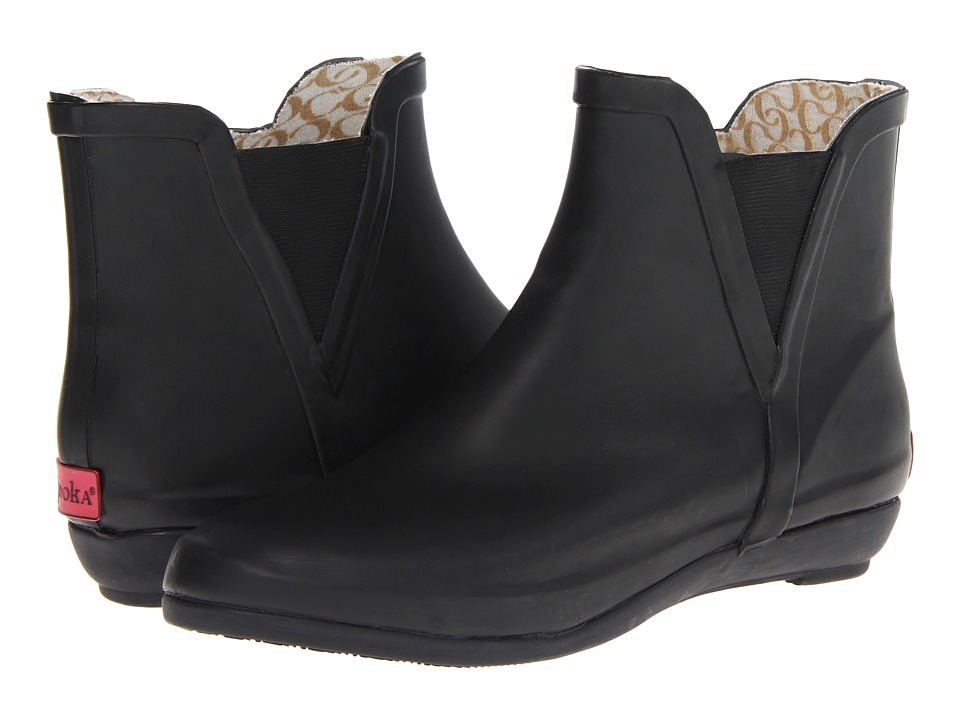 Chooka - V-Gore Wedge Bootie (Black) Women